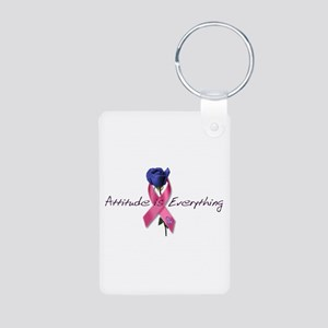 Pink Ribbon - Attitude Aluminum Photo Keychain